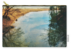 Carry-all Pouch featuring the photograph Grant Park - Lake Michigan Shoreline by Jennifer Rondinelli Reilly - Fine Art Photography