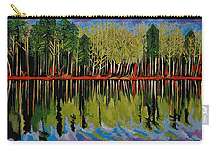 Grant's Lake Reflections Carry-all Pouch by Kathleen Sartoris