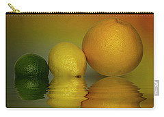 Carry-all Pouch featuring the photograph Grapefruit Lemon And Lime Citrus Fruit by David French