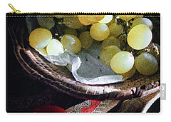 Carry-all Pouch featuring the photograph Grapes And Tomatoes by Silvia Ganora