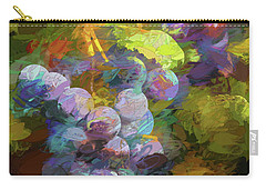 Carry-all Pouch featuring the photograph Grapes In Abstract by Penny Lisowski