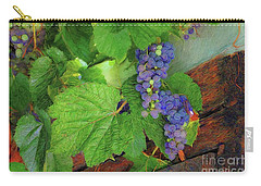 Grapes Carry-all Pouch by John Kolenberg