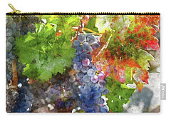 Grapes On The Vine In The Autumn Season Carry-all Pouch