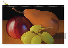 Grapes Plum And Pear 01 Carry-all Pouch by Wally Hampton
