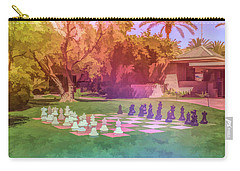 Carry-all Pouch featuring the photograph Graphic Rainbow Chess At The Biltmore by Aimee L Maher Photography and Art Visit ALMGallerydotcom