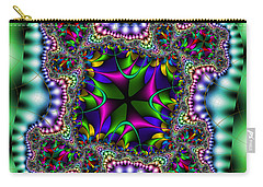 Carry-all Pouch featuring the digital art Grapperana by Andrew Kotlinski