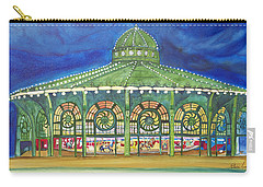 Carry-all Pouch featuring the painting Grasping The Memories by Patricia Arroyo