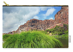 Grass Along John Day River In Central Oregon Carry-all Pouch