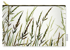 Carry-all Pouch featuring the painting Grass Design by James Williamson