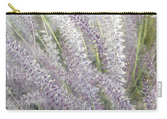 Carry-all Pouch featuring the photograph Grass Is More - Nature In Purple And Green by Ben and Raisa Gertsberg