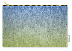 Grass On Blue And Green Carry-all Pouch