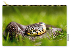 Grass Snake - Natrix Natrix Carry-all Pouch by Roeselien Raimond