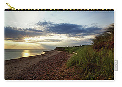 Carry-all Pouch featuring the photograph Grass Sways On Prince Edward Island Bluffs by Chris Bordeleau