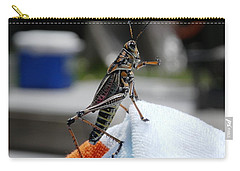 Dancing Grasshopper At The Pool Carry-all Pouch by Belinda Lee