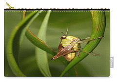 Carry-all Pouch featuring the photograph Grasshopper by Jouko Lehto