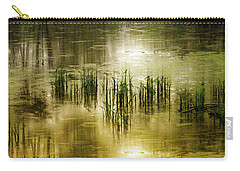Carry-all Pouch featuring the photograph Grassland Abstract by Jessica Jenney