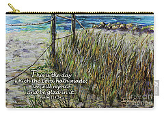 Grassy Beach Post Morning Psalm 118 Carry-all Pouch