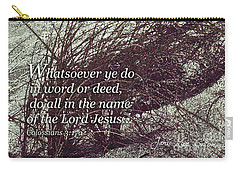 Grassy Dunes Colossians 3 Carry-all Pouch