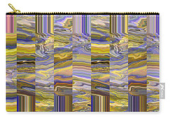 Carry-all Pouch featuring the photograph Grate Art - Purples And Yellows by Brooks Garten Hauschild