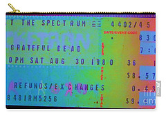 Grateful Dead - Ticket Stub Carry-all Pouch by Susan Carella
