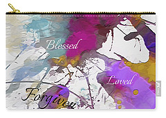 Carry-all Pouch featuring the digital art Grateful To Be by Margie Chapman