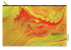 Gratitude - Red And Yellow Colorful Abstract Art Painting Carry-all Pouch