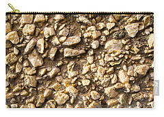 Carry-all Pouch featuring the photograph Gravel Stones On A Wall by John Williams