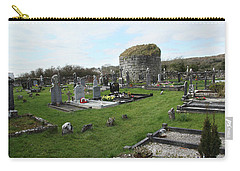Carry-all Pouch featuring the photograph Graveyard Antigua Iglesia De Killinaboy Ireland by Marie Leslie