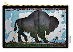 Gray Buffalo Carry-all Pouch by Larry Campbell