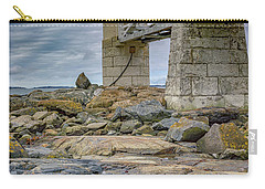 Carry-all Pouch featuring the photograph Gray Day At Marshall Point by Rick Berk