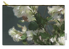 Gray Floral 09 Carry-all Pouch