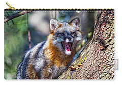 Gray Fox Awakens In The Tree Carry-all Pouch