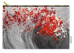 Gray Wave Turning Red Carry-all Pouch by Jessica Wright