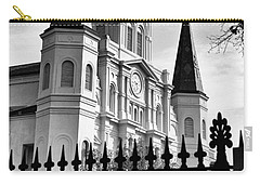 Grayscale St. Louis Cathedral Carry-all Pouch