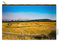 Grazing Horses Carry-all Pouch