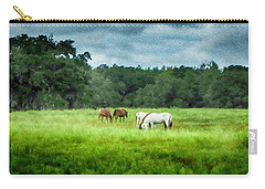 Carry-all Pouch featuring the photograph Grazing by Judy Hall-Folde