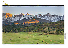Carry-all Pouch featuring the photograph Grazing Under Sneffels by David Chandler