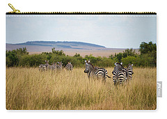 Grazing Zebras Carry-all Pouch