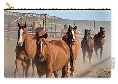 Great American Horse Drive - Coming Into The Corrals Carry-all Pouch