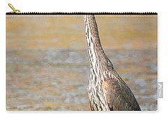 Great Blue At The Flats Carry-all Pouch by Robert Frederick