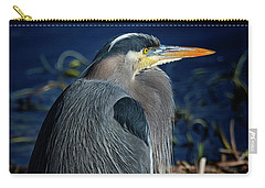Carry-all Pouch featuring the photograph Great Blue Heron 2 by Randy Hall