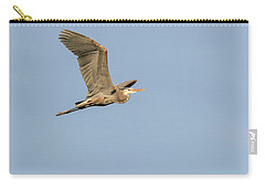 Carry-all Pouch featuring the photograph Great Blue Heron 2015-17 by Thomas Young