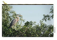 Carry-all Pouch featuring the photograph Great Blue Heron  2015-18 by Thomas Young