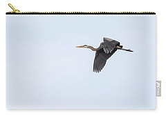 Carry-all Pouch featuring the photograph Great Blue Heron 2017-1 by Thomas Young