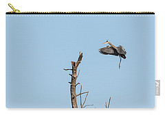 Carry-all Pouch featuring the photograph Great Blue Heron 2017-3 by Thomas Young