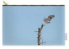 Carry-all Pouch featuring the photograph Great Blue Heron 2017-4 by Thomas Young
