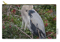 Great Blue Heron And Nestling Carry-all Pouch