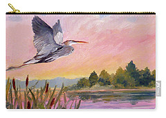 Great Blue Heron At Dawn Carry-all Pouch