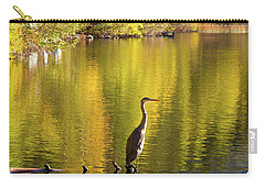Great Blue Heron At Gull Lake Carry-all Pouch