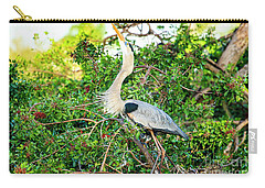 Great Blue Heron At Rookery Carry-all Pouch